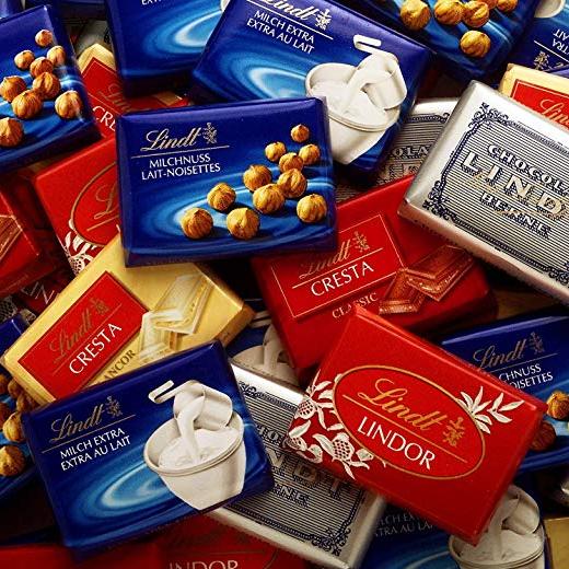 巧克力控速来~瑞士莲Lindt 1kg大包装Mini巧克力