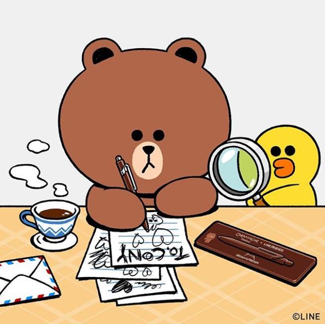 Line Friends 布朗熊存钱罐