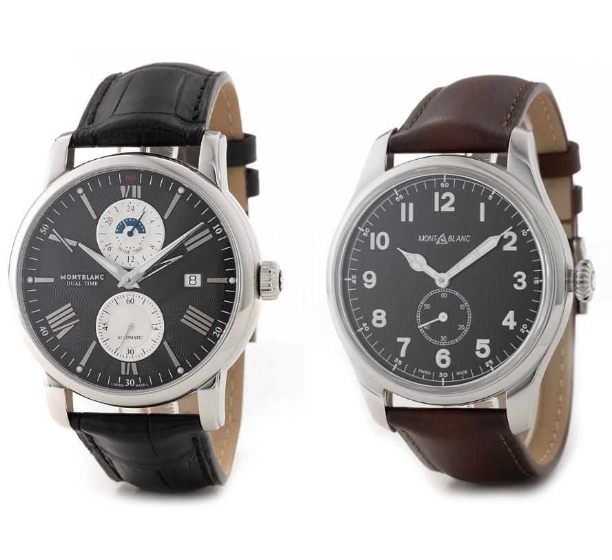 低调有品位 Montblanc万宝龙 钱包手表!