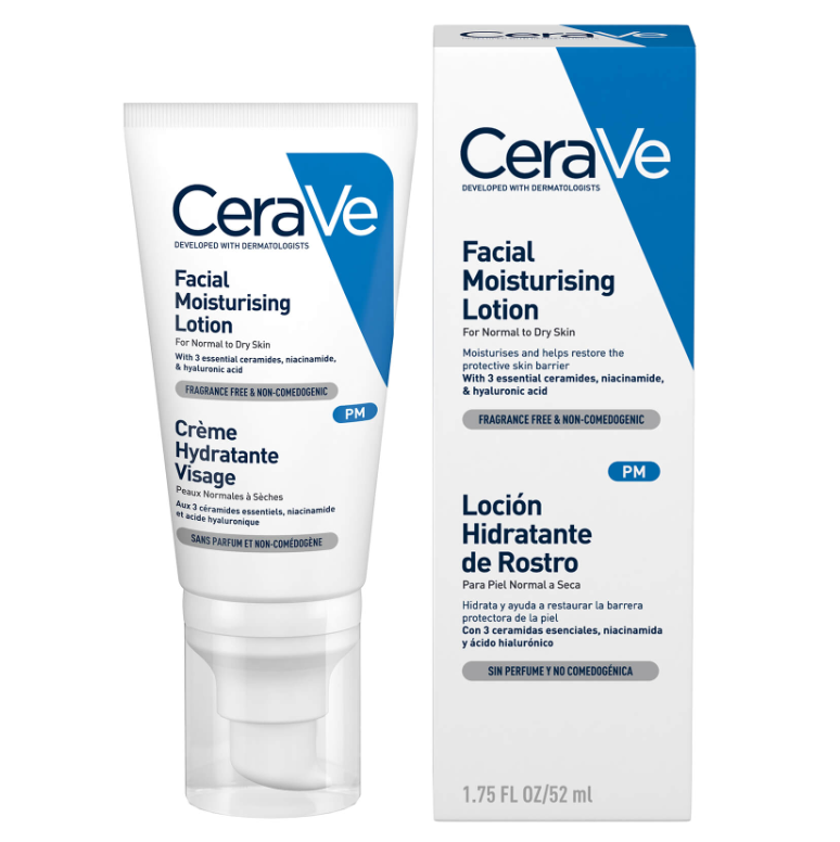 提亮肤色甩掉暗沉!CeraVe PM烟酰胺保湿修护润肤乳