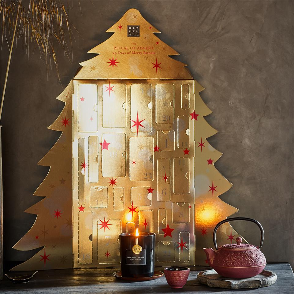 Rituals 2019 圣诞倒数日历 金灿灿的圣诞树造型