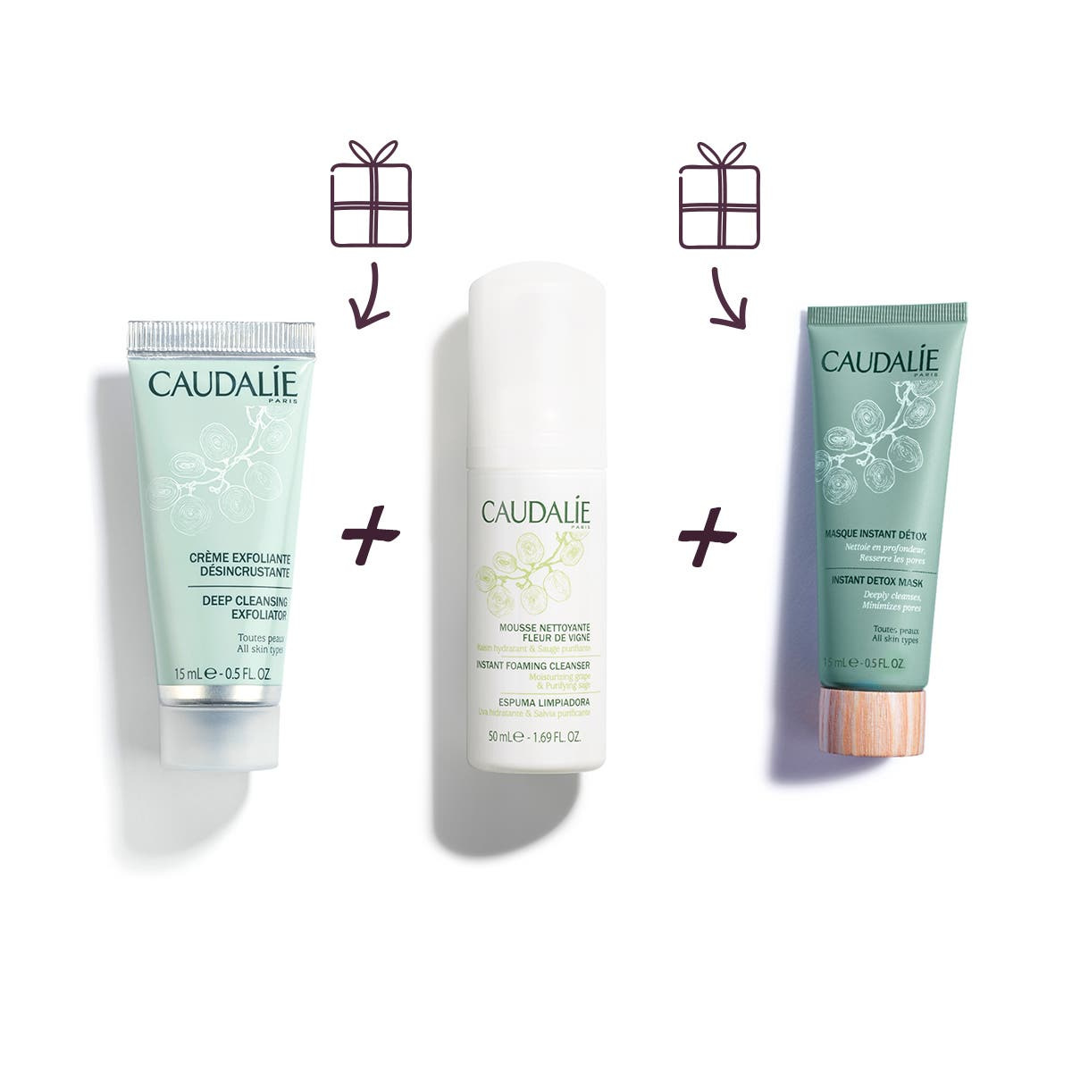 Caudalie Perfect Cleansing Trio清洁套装三件套
