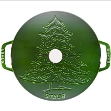 Staub铸铁锅 绿色圣诞树节日款