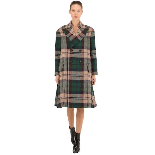 Vivienne Westwood 格纹长款羊毛大衣