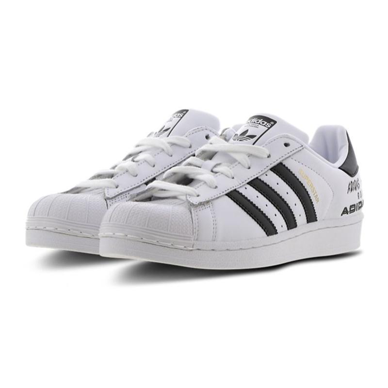 敲好搭配的贝壳头!Adidas Superstar 三叶草贝壳头女鞋