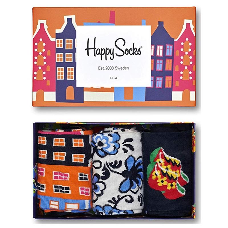 冬天怎么能又暖又活泼?Happy Socks 礼盒三双装