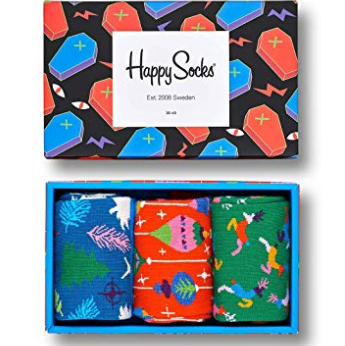 冬季圣诞特别版 Happy Socks 男士礼盒三双装