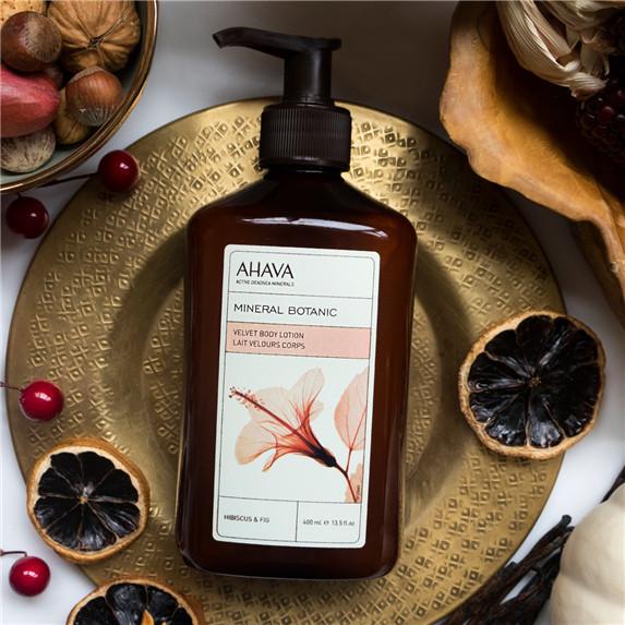 AHAVA 丝绒香氛身体乳/身体乳霜(玫瑰茄和无花果)