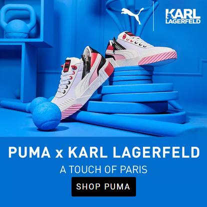 强强联合!KARL LAGERFELD X PUMA 合作系列款运动服饰鞋履!