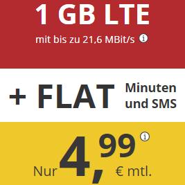 德国通话短信免费+1GB高速LTE流量