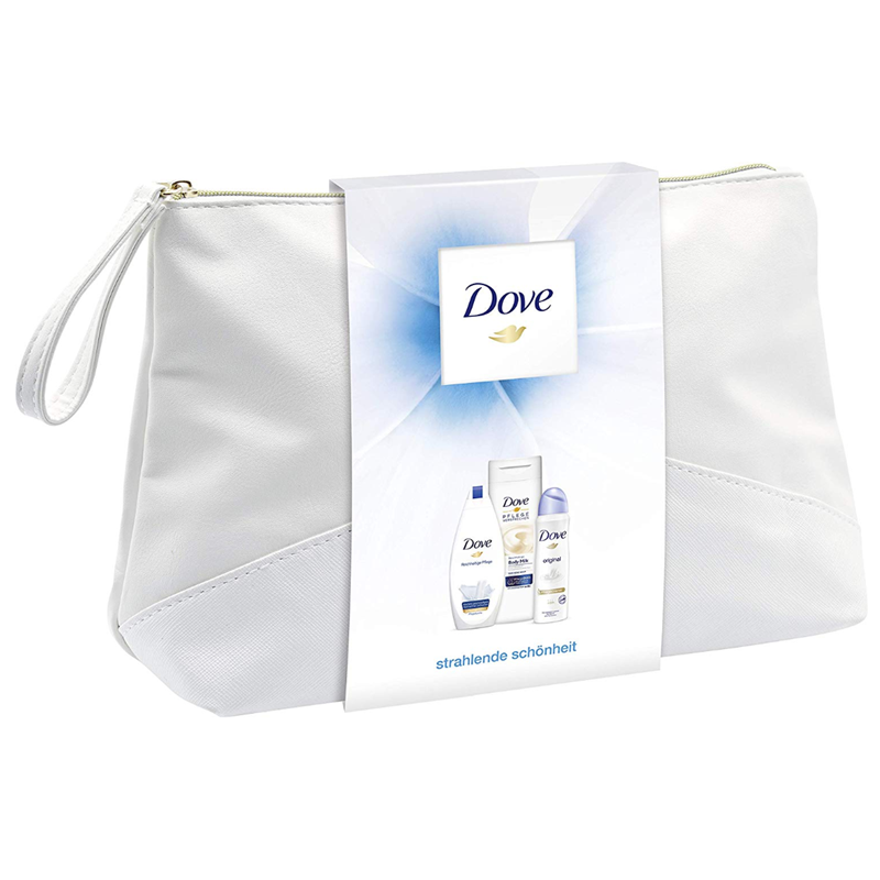 让你光彩照人 Dove多芬身体护理套装止汗喷雾+沐浴露+身体乳