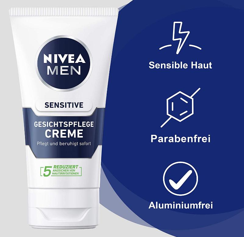 NIVEA MEN 妮维雅男士 敏感肌面部护肤霜2x75ml