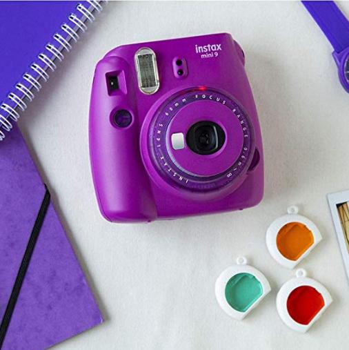 2019限量Fujifilm Instax Mini 9 拍立得相机 紫色款 带彩色镜头