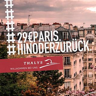 一起坐Thalys去巴黎啦~