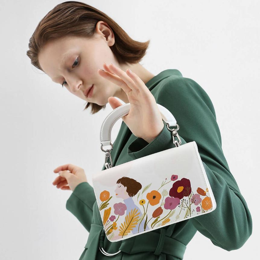 用花朵迎接春天的风 CHARLES & KEITH × 插画师卤猫合作款
