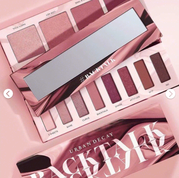 Urban Decay Backtalk18年春季限定干玫瑰!八色眼影+四色高光盘