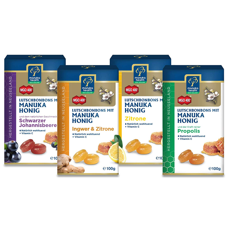 Manuka Health 润喉糖 蜂蜜蜂胶+蜂蜜柠檬+蜂蜜黑莓+蜂蜜生姜