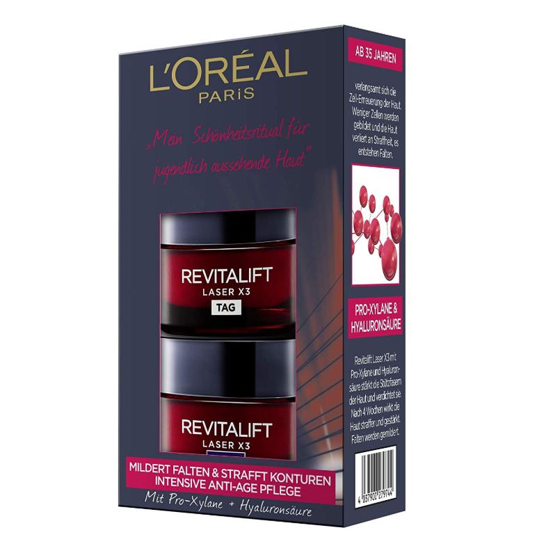 L'Oréal 欧莱雅LaserX3复颜光学嫩肤 日霜+晚霜套装