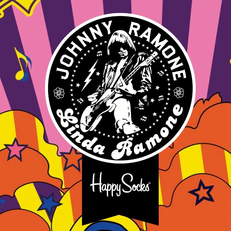 Happy socks x Linda and Jonny 摇滚乐迷们必入的袜子!