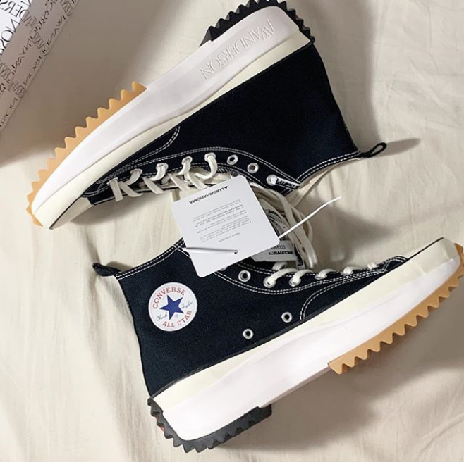 带货女王泫雅同款厚底匡威!W Anderson x Converse Run Star Hike