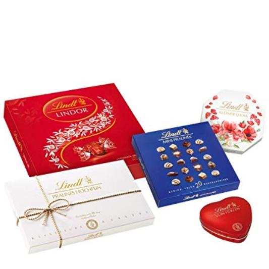情人节巧克力,只给特别的你!Lindt瑞士莲五盒礼盒套组