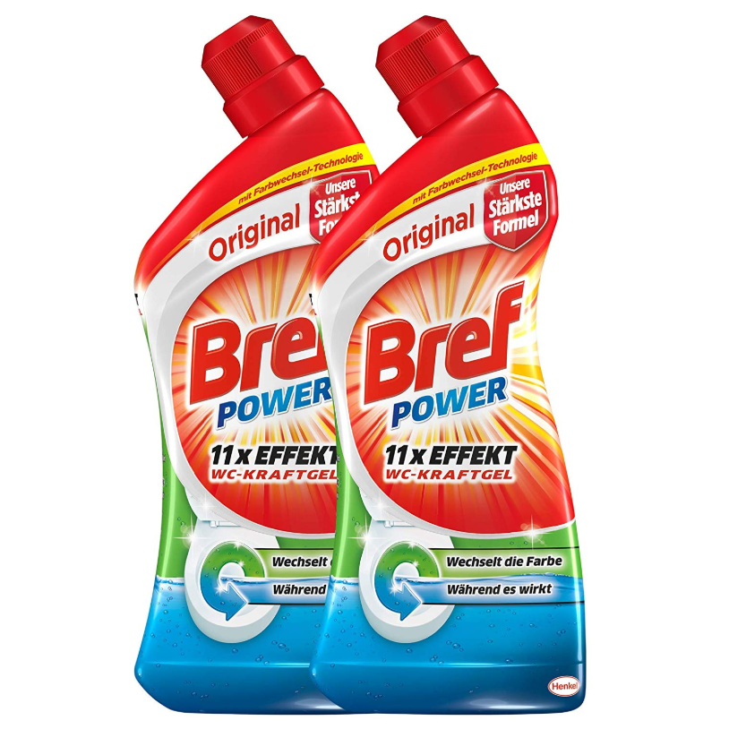 Bref Power WC-KraftGel Original 强力多效马桶清洁剂 2x1L