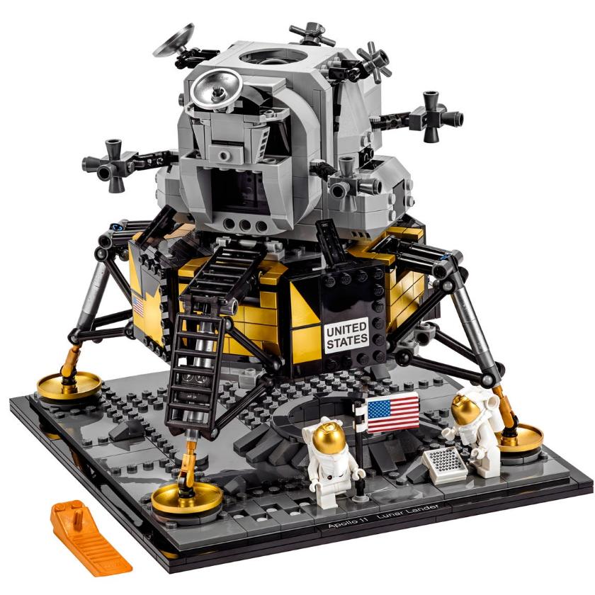 乐高迷看过来!NASA阿波罗11号登月舱模型 培养孩子的机械爱好感!