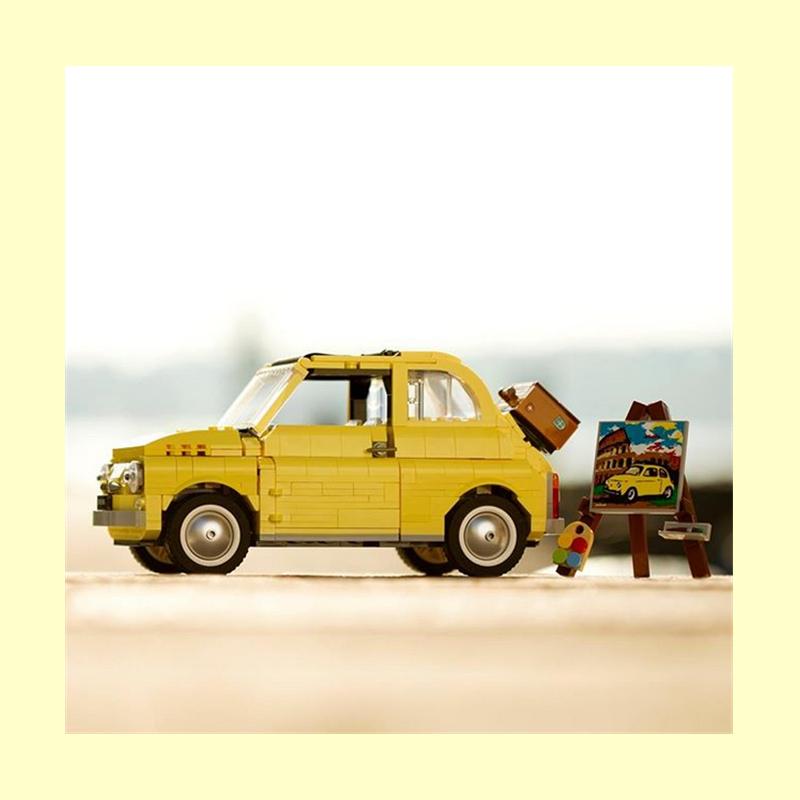 与菲亚特携手重拾往日辉煌!LEGO Fiat 500 乐高菲亚特500模型