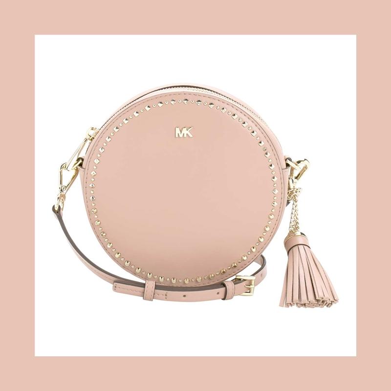 Michael Kors 裸粉色斜跨圆形包