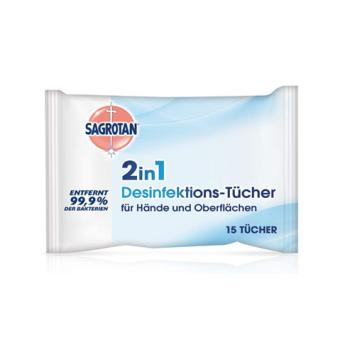 Sagrotan 2in1杀菌消毒湿巾!消灭99.9%的细菌病毒!