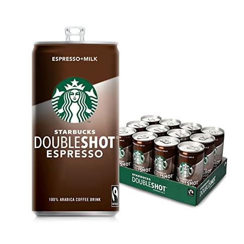 咖啡爱好者不能错过!星巴克 Double shot Espresso 易拉罐烘焙咖啡 12罐装