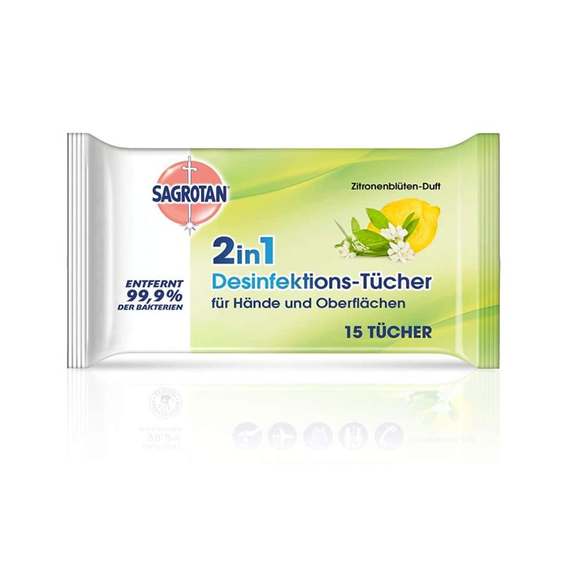Sagrotan卫生消毒湿巾 柠檬草味