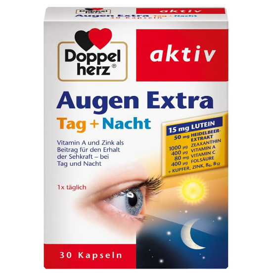 Doppelherz Augen Extra Tag + Nacht双心叶黄素护眼片日夜加强版