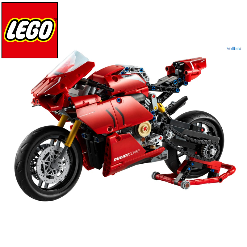 LEGO Technic系列大红色杜卡迪机车