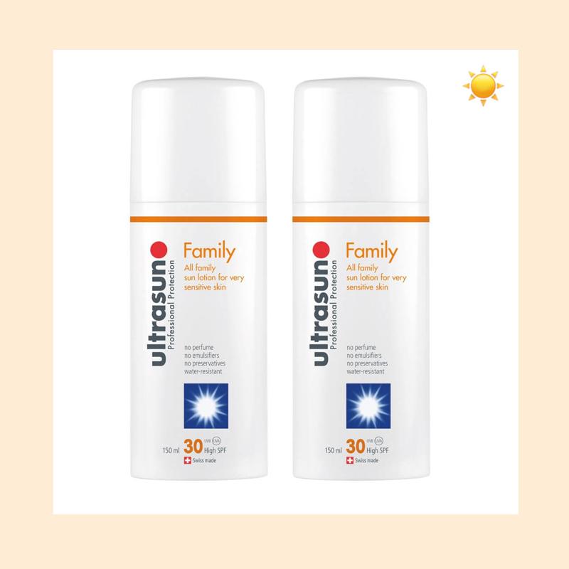 【直邮中国】全家都可用!Ultrasun 优佳SPF30家庭全效防晒乳*2瓶装