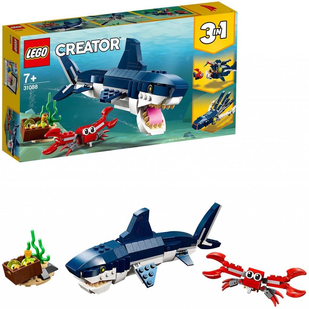 乐高创意百变系列LEGO Creator 31088 三合一深海生物套装