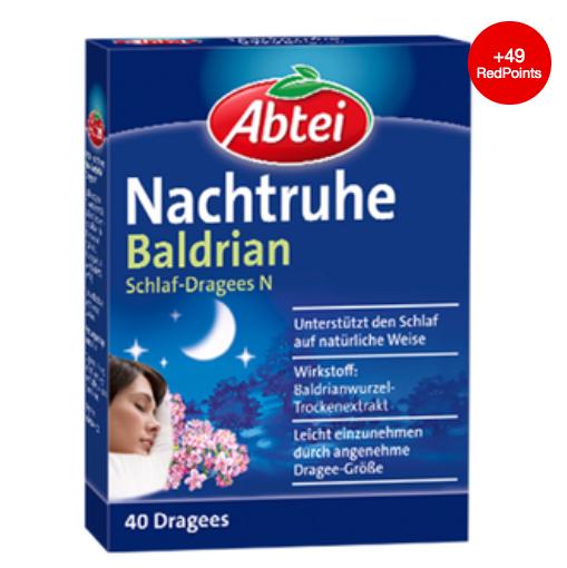 缓解焦虑紧张 从此入睡不再困难 Abtei Nachtruhe天然安神缬草助眠片