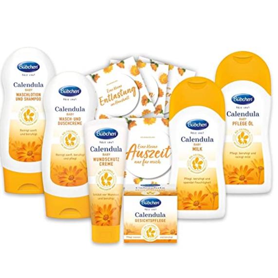 德国婴儿护肤品牌三大巨头之一Bübchen Calendula新生儿护肤六件套