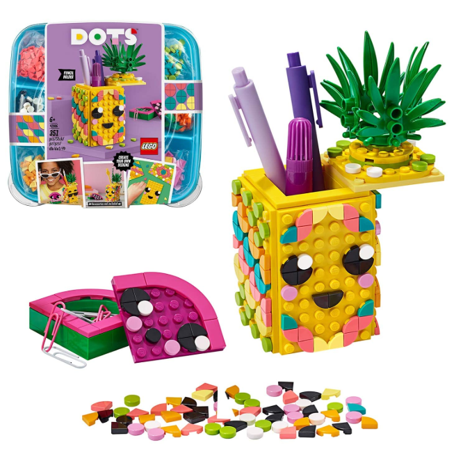 超实用!Lego乐高自制笔筒/收纳盒