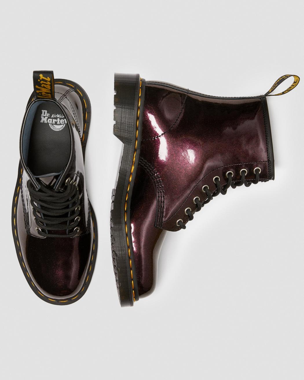美到窒息!Dr. Martens 1460 SPARKLE STIEFEL星光红星光蓝漆皮镜面马丁靴