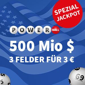 奖金破德国记录!PowerBall-Jackpot美版双色球来德国啦!快来赢取五亿美金大奖!
