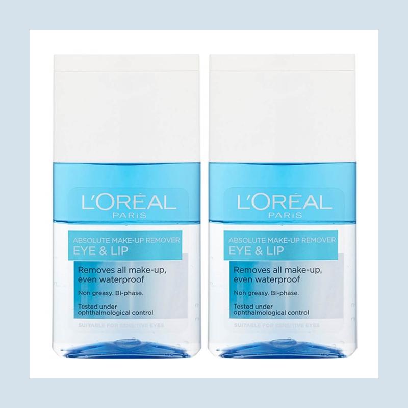 温和卸妆养肤不糊眼!L'Oréal Paris 欧莱雅眼唇卸妆液两瓶装