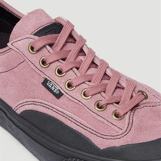 Vans Destruct Surf 男士开口笑饼干底黑粉色休闲板鞋