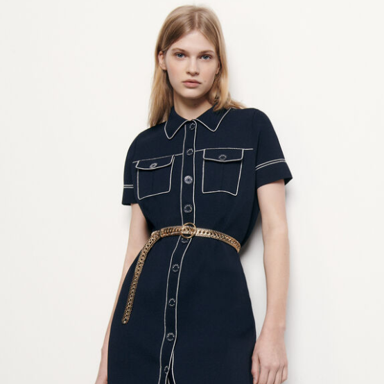 sandro 中性风的酷飒 衬衫连衣裙