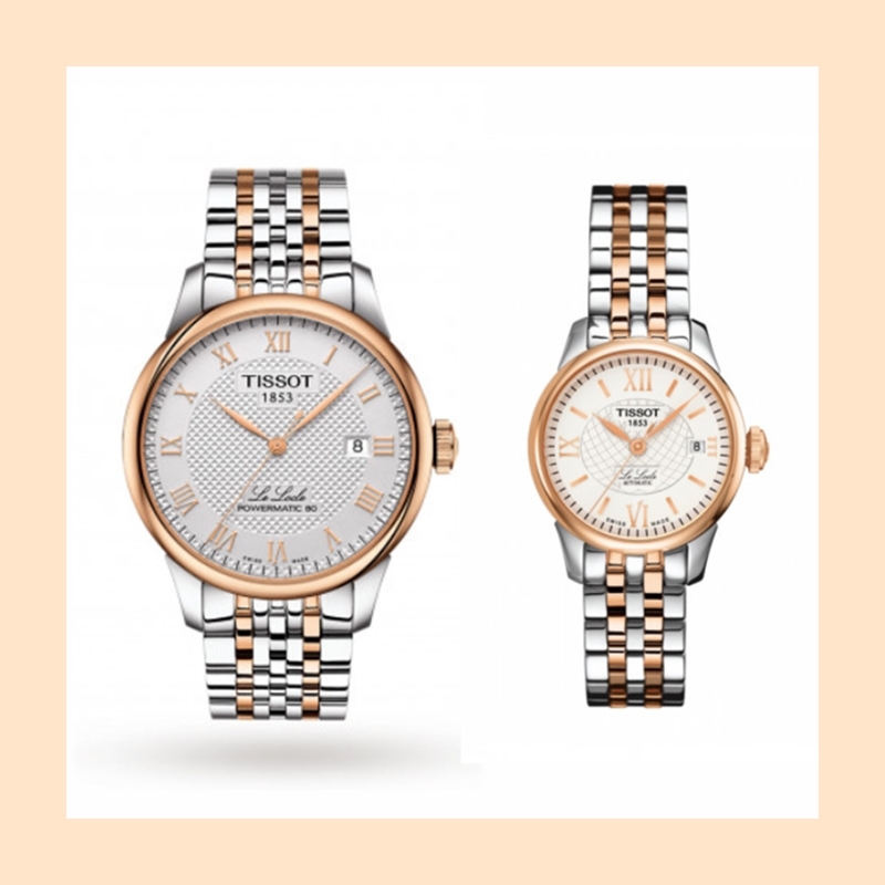 【直邮中国】手表也是表达爱意的好物哦!TISSOT 天梭男女玫瑰金色情侣对表