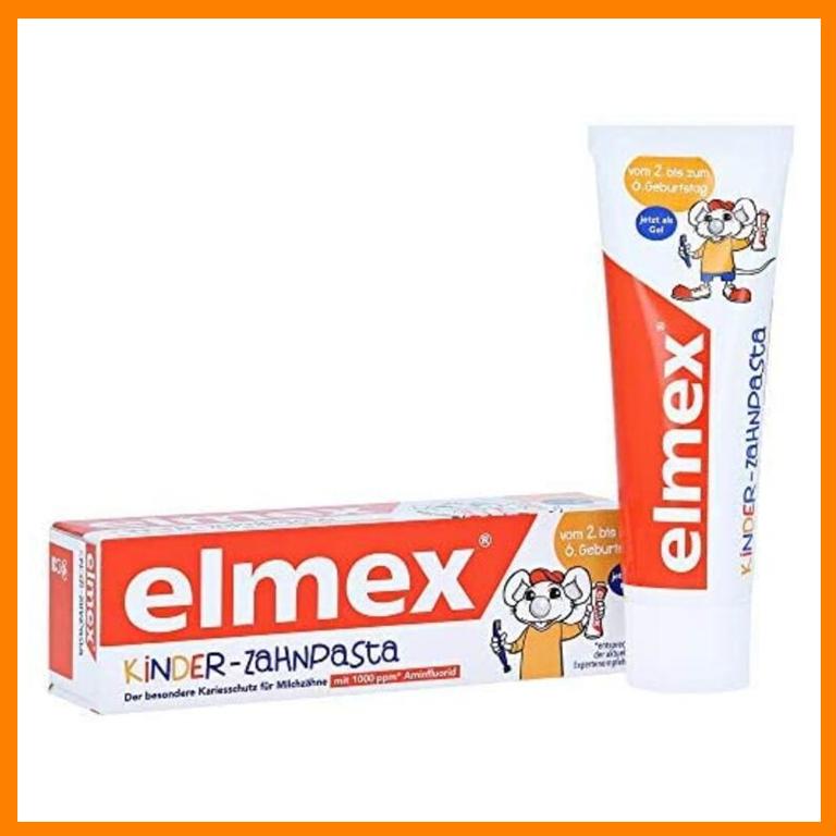 德国牙医力荐的Elmex儿童款牙膏,专为2-6岁儿童设计