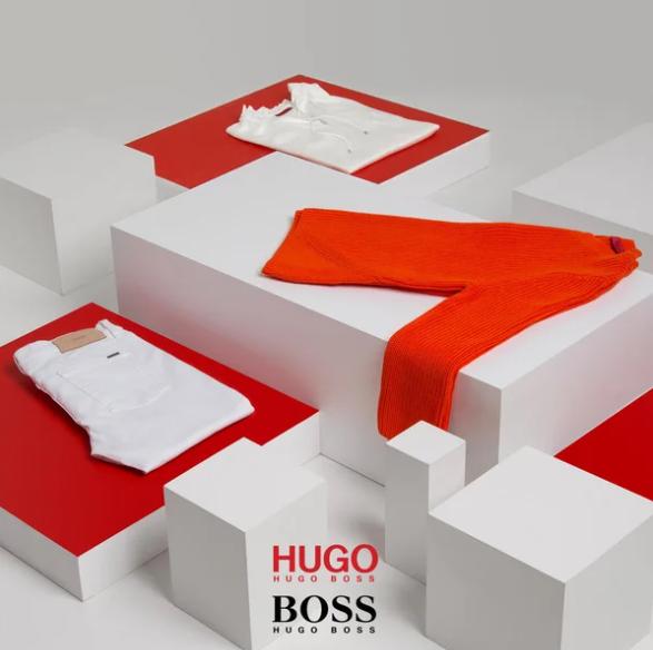 成熟稳重风 Hugo Boss 男女服装及墨镜 黑红双标联合场