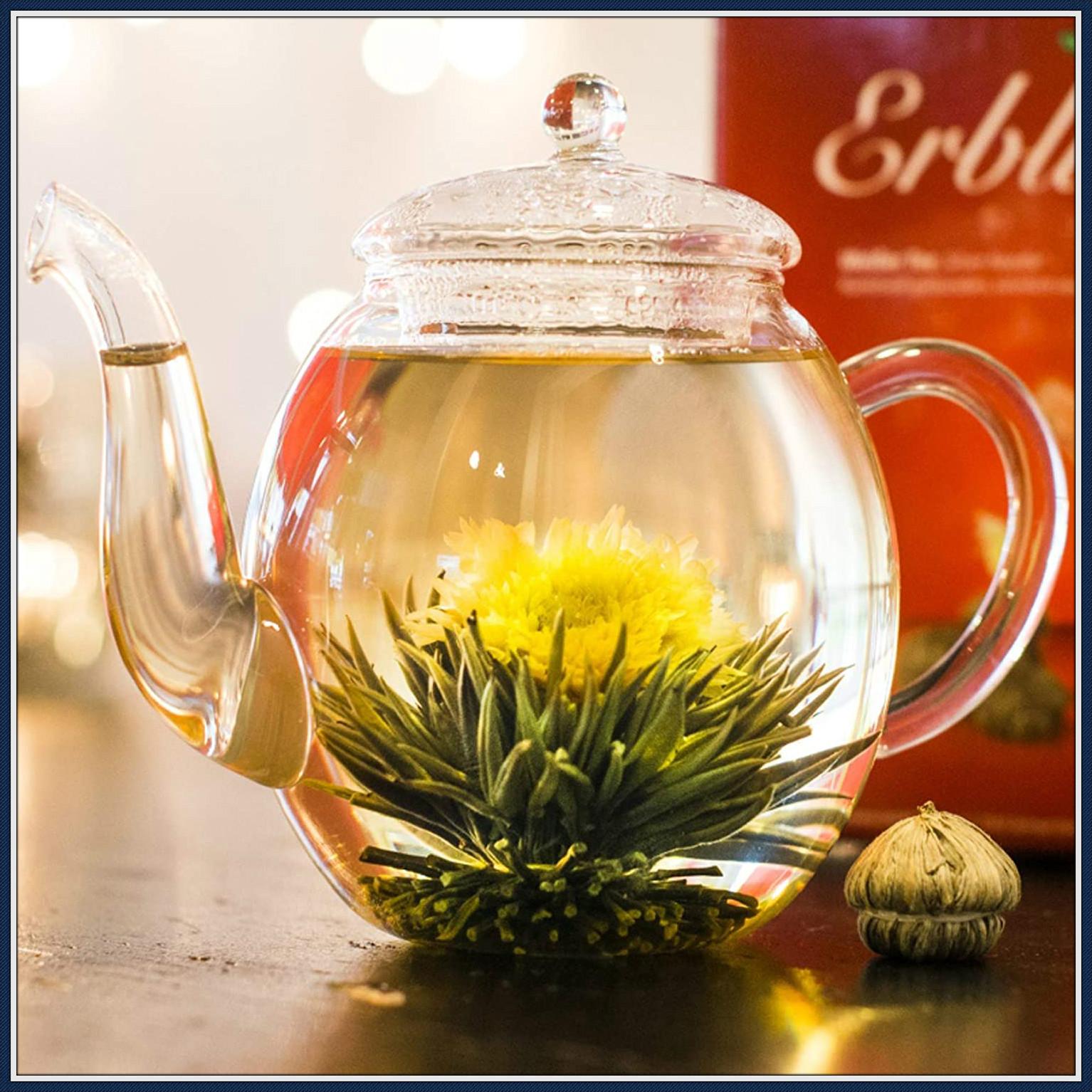 茶壶中缓缓盛开的花朵 Creano茶花礼盒