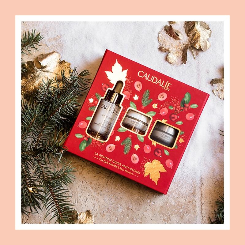 【火爆套组7折+送礼!】每一年大葡萄家的必抢套组!Caudalie/欧缇丽 臻美亮白精华圣诞限量三件套