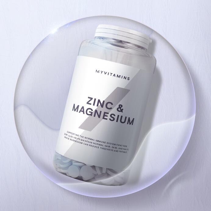 Myvitamins Zink & Magnesium Tabletten 强健骨骼 缓解疲劳 镁锌补充剂